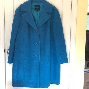 Talbots Blue Medium Length Pea Coat